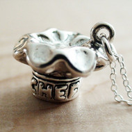 Sterling Silver Chef Hat Charm Necklace
