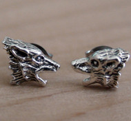 Werewolf Post Earrings - 925 Sterling Silver