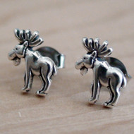 Moose Earrings - Sterling Silver Post Earrings