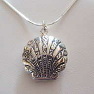 Sterling Silver Shell Locket Necklace
