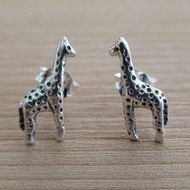 Sterling Silver Giraffe Post Earrings
