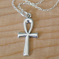 Sterling Silver Ankh Charm Necklace