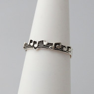 925 Sterling Silver Music Note Ring