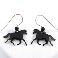 Movable Horse Earrings - Handmade in USA - 925 Sterling Silver Earwire