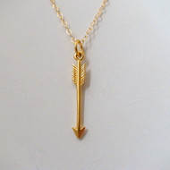 24k Gold Plated Sterling Silver Arrow Charm