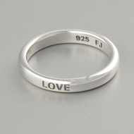 Love Stacking Ring - Sterling Silver