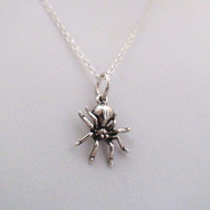 Sterling Silver Tiny Spider Necklace