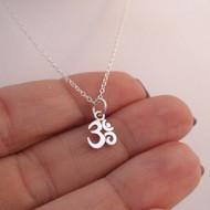 Sterling Silver Tiny Ohm Necklace