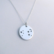Sterling Silver Leo Constellation Necklace - Horoscope Zodiac