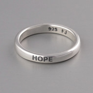 Hope Stacking Ring - Sterling Silver
