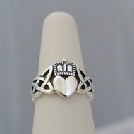 Sterling Silver Heart Claddagh Ring