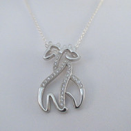 Sterling Silver Hugging Giraffe Necklace