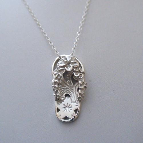 sterling silver flip flop necklace. Black Bedroom Furniture Sets. Home Design Ideas