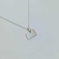 Sterling Silver Colorado State Charm Necklace