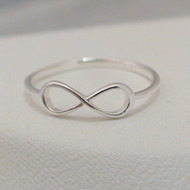 Sterling Silver Infinity Ring or Knuckle Ring