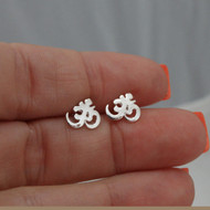 Sterling Silver Tiny Ohm Post Earrings