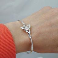 Sterling Silver Trinity Celtic Knot Bangle Bracelet