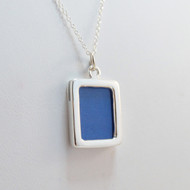 Sterling Silver 2 Photo Charm Locket Necklace