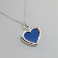 Sterling Silver Heart Photo Locket Double Sided