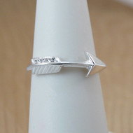 Sterling Silver Sideways Arrow Ring