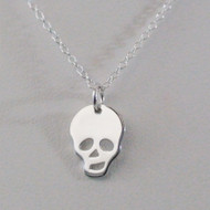 Sterling Silver Skull Charm Necklace