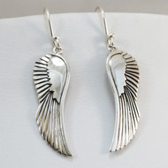 Sterling Silver Dangle Angel Wing Earrings