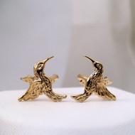 Sterling Silver Gold Vermeil Hummingbird Ear Cuffs