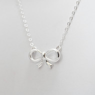 Sterling Silver Ribbon Necklace