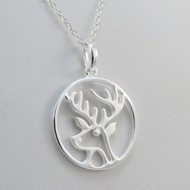 925 Sterling Silver Elk Necklace