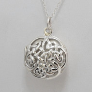 925 Sterling Silver Celtic Knot Locket