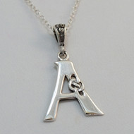 Sterling Silver Celtic Knot Letter A Initial Necklace