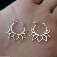 Lotus Earrings in 925 Sterling Silver