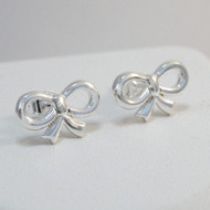 925 Sterling Silver Bow Stud Earrings
