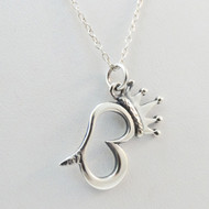 Sterling Silver Queen Bee Charm Necklace