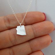 Sterling Silver Arizona State Charm Necklace