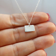 925 Sterling Silver Colorado State Charm Necklace