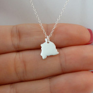 925 Sterling Silver Hawaii State Charm Necklace