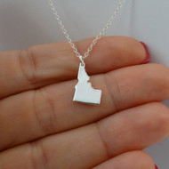 925 Sterling Silver Idaho State Charm Necklace