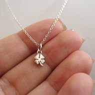 Sterling Silver Four Leaf Clover Charm Necklace