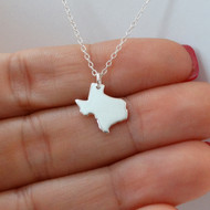 Sterling Silver Texas State Charm Necklace