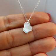 Sterling Silver Wisconsin State Charm Necklace