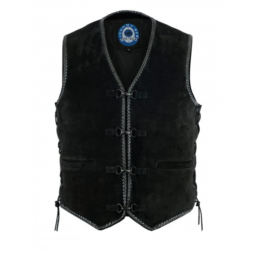 Johnny Reb Lightning Ridge Suede Leather Vest