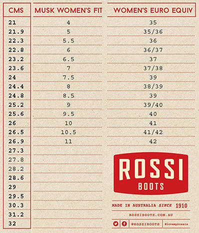rossi-boots-size-chart