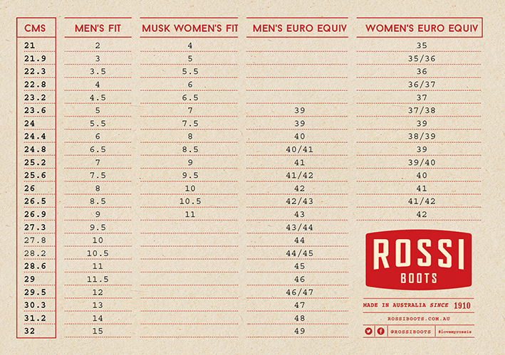 Gino Rossi Shoes Size Guide