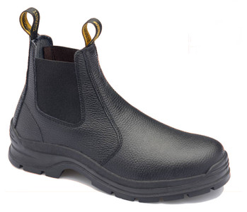 Blundstone 310 Black Rambler print leather elastic side Steel Cap safety boots