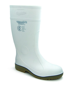 Blundstone 006 White Armorchem waterproof steel cap chemical resistant gumboots