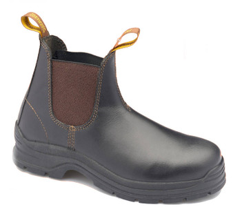 Blundstone 311 Brown Steel Cap Waxy Leather Elastic Side Safety Boot