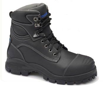 Blundstone 991 Black Platinum Quality Leather Lace Up Steel Cap Safety Boot