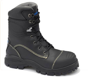 Blundstone 995 Black Platinum Quality Leather Lace Up Penetration Resistant Steel Cap Safety Boot