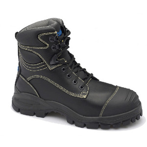 Blundstone 994 Black Premium Lace Up, Steel Cap, Metatarsal Guard, Safety Boot